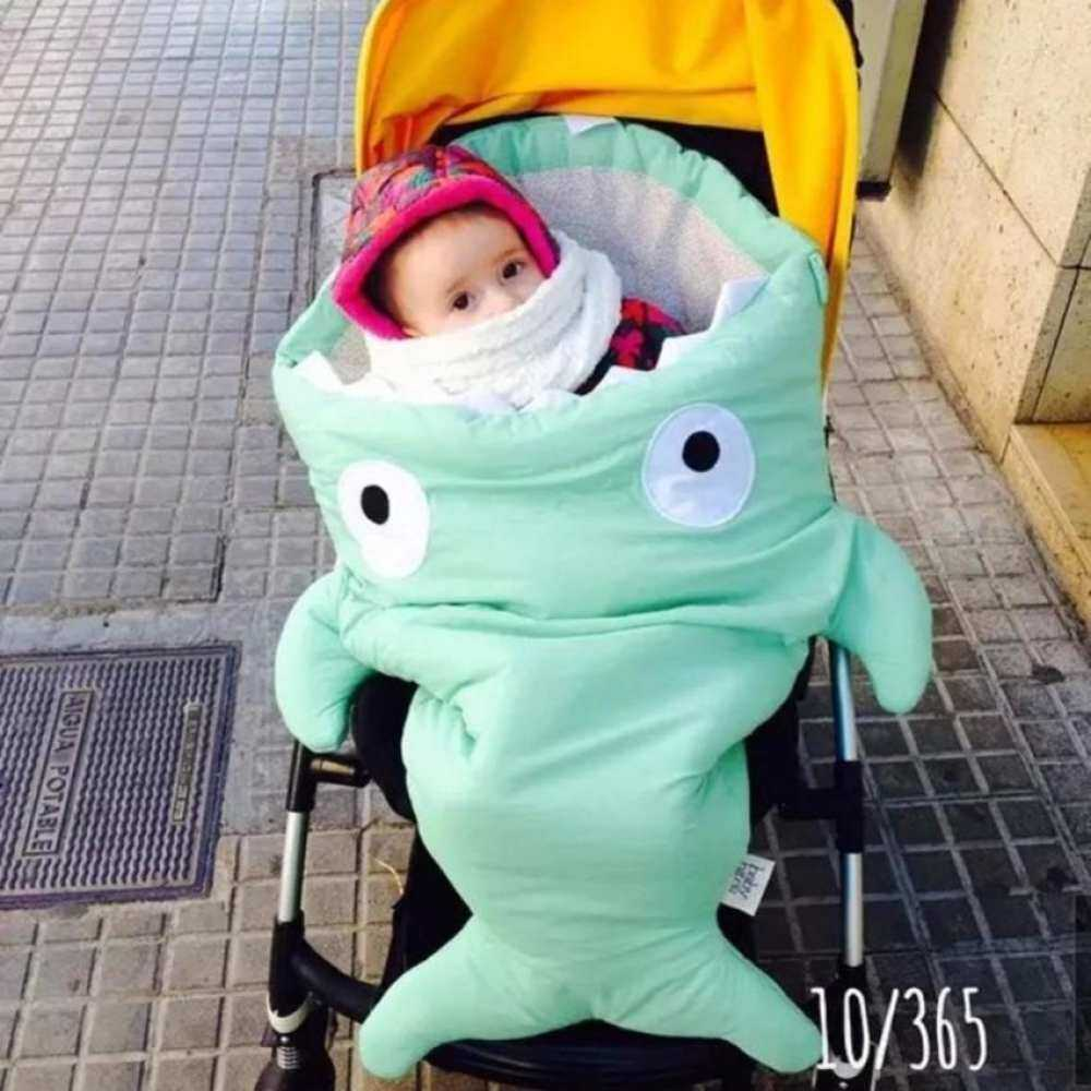 Cute Shark Blanket Swaddling Sacks Baby Green Bag Sleeping By Coco Tech.
