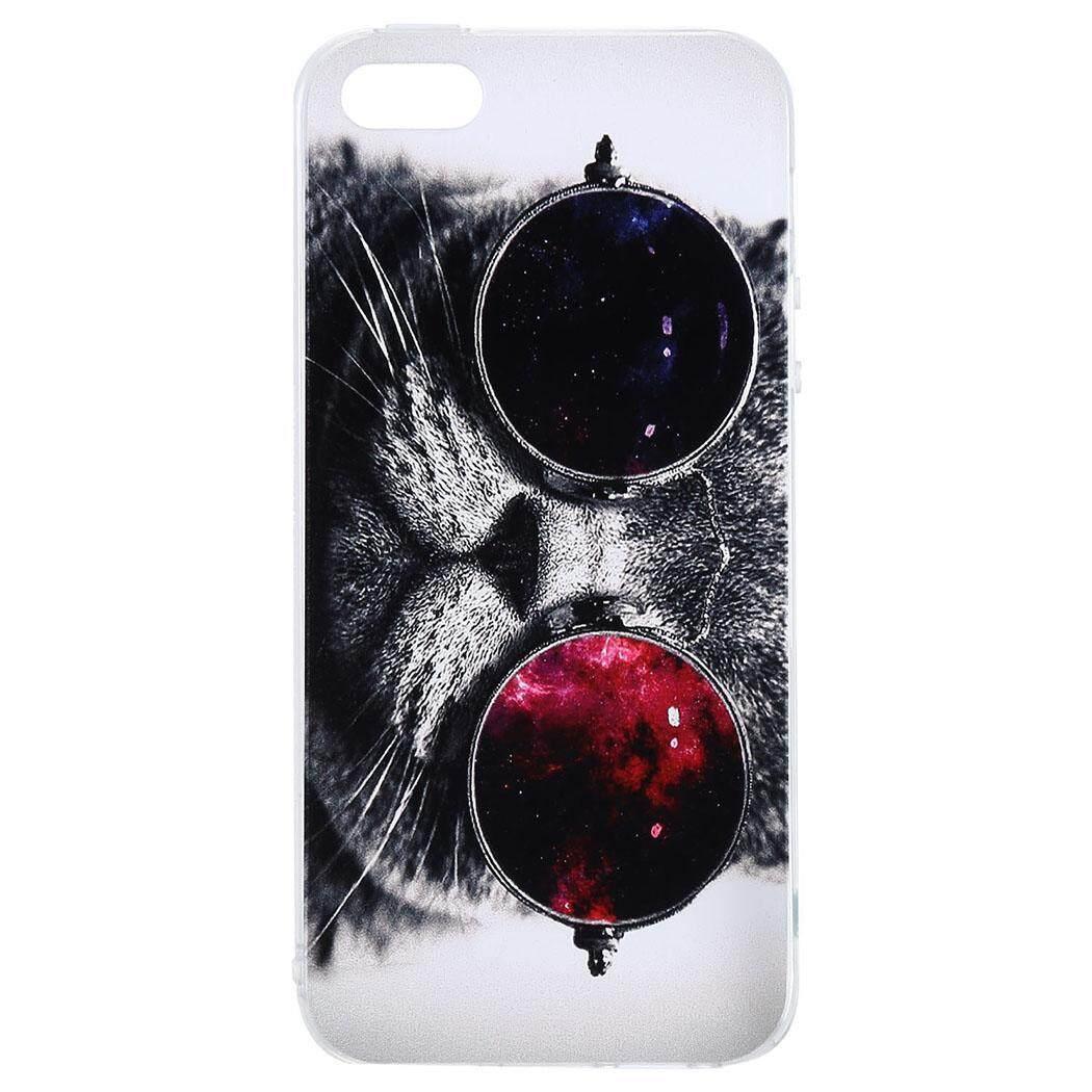 [Dijual Di Rincian Harga] Cyber Obral Cuci Gudang TPU Debu Bukti Cetak Pola Kotak Telepon Cover untuk IPhone5/IPhone6S/IPhone7 (#4) -Intl