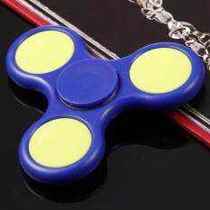 [sale At Breakdown Price] Cyber Plastic Hand Spinner 360 Tri Fidget Edc Focus Desk Hand Toys Stress Reduce ( Blue ) By Happydeal365.