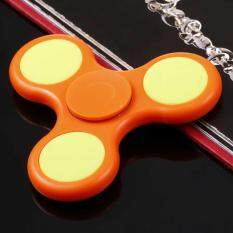 [sale At Breakdown Price] Cyber Plastic Hand Spinner 360 Tri Fidget Edc Focus Desk Hand Toys Stress Reduce ( Orange ) By Happydeal365.
