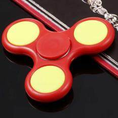 [sale At Breakdown Price] Cyber Plastic Hand Spinner 360 Tri Fidget Edc Focus Desk Hand Toys Stress Reduce ( Red ) By Happydeal365.
