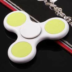 [sale At Breakdown Price] Cyber Plastic Hand Spinner 360 Tri Fidget Edc Focus Desk Hand Toys Stress Reduce ( White ) By Happydeal365.