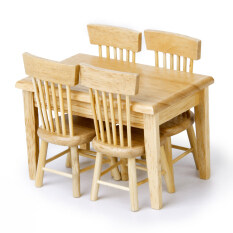furniture miniature. Dining Table Chair Model Set Miniature Furniture Wooden 5pcs