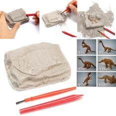 Hình ảnh Dinosaur Excavation Kit Archaeology Dig Up Fossil Skeleton Fun Kids Toy Gift