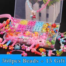 DIY Kid Bracelet Necklace Beads Acrylic Kit Accessories Girls Toys Jewelry Making Kids For