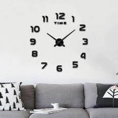 Diy Large Wall Clock 3d Mirror Sticker Frameless Home Decor Roman Clocks By Brisky.