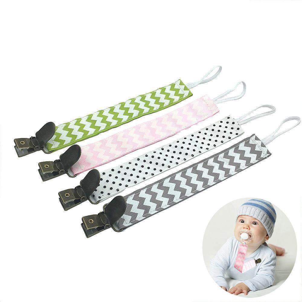 Dmscs Bayi Dot Klip, 4 Pack Pemegang Dot Desain Moderen Kualitas Premium Teething Lingkaran Penahan untuk Anak Laki-laki/Perempuan-Internasional