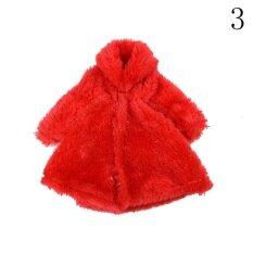Aksesori Boneka Pakaian Hangat Musim Dingin Berwarna Merah Muda Pakaian Mantel Bulu Untuk 1/6 Boneka Bjd Boneka Barbie Warna: 3 By Lofow Rain.