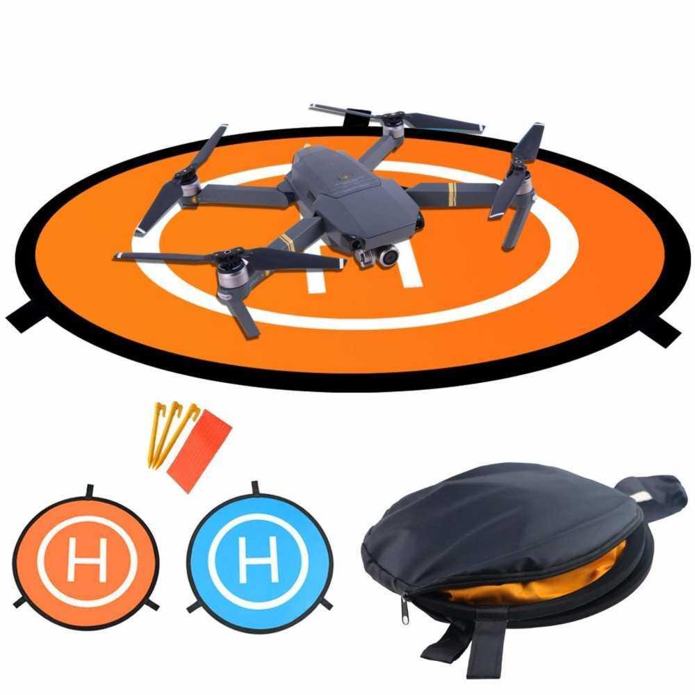 Drone Pad Pendaratan Universal Tahan Air D 75 Cm/30 Portable Pendaratan Bisa Dilipat Bantalan untuk RC Drone Pro Robot & 3DR Antel Helikopter solo Mavic 2/3/4/2/Pro/Mavicair/Phantom PVB DJI Drone