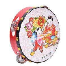Drum Rattles Toy Kids Musical Educational Toys Chinese Traditional Hand Drums
