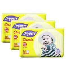 Drypers Classic Family Pack 12-17kg -XL50 3 pack