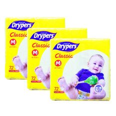 Drypers Classic Family Pack 6-11kg -M72 3 pack