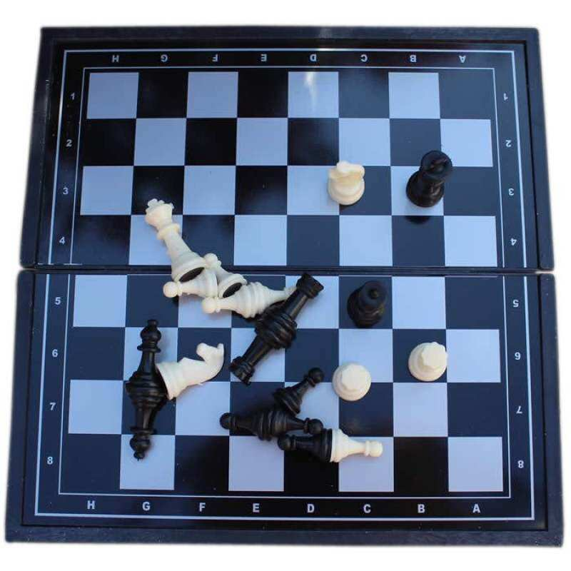 Easybuy Mini Lovely Quality Fold Magnetic Chess Set Plastics For Traveling By Aqavp.