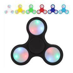 EDC Fidget Hand Spinner Toys LED Light Glow In The Dark Black