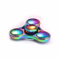 Hình ảnh EDC Fidget Spinner Rainbow Colors Titanium Alloy High Speed Focus Toy Gift Multicolor