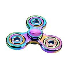Edc Tri Fidget Hand Spinner Focus Adhd Autism Finger Toy Gyro New Desk Pocket Toy Colorful Zinc Alloy By New Plus.
