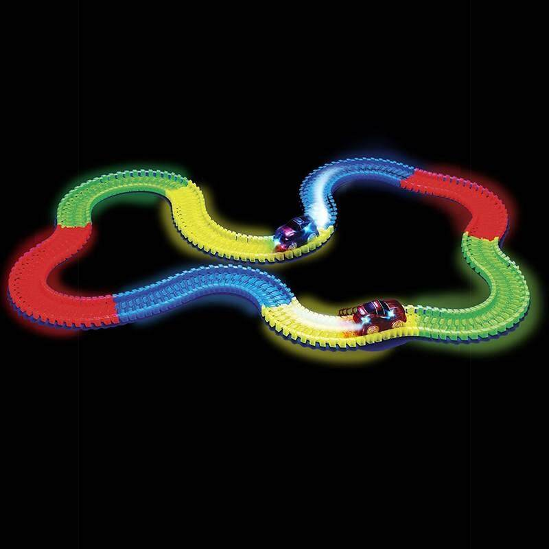 Where To Buy Electrical Magic Tracks Diy Luminous Toy Cars Pathway Amazing Racetrack For Kids Intl