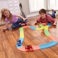 Electrical Magic Tracks Diy Luminous Toy Cars Pathway Amazing Racetrack For Kids By Watson.