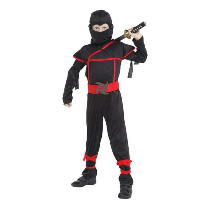 EOZY Halloween Kids Boys Stealth Ninja Costumes Halloween Party Children Assassin Cosplay Costume Stage Performance Apparel Size M
