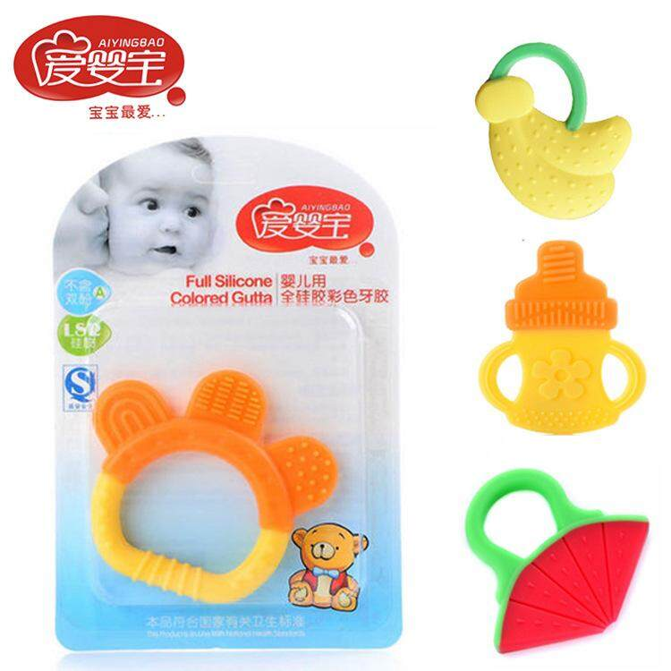 Etouch Teething Ring Safety Biting Toy Kids Baby Orthodontic Gear Fruit Teether image