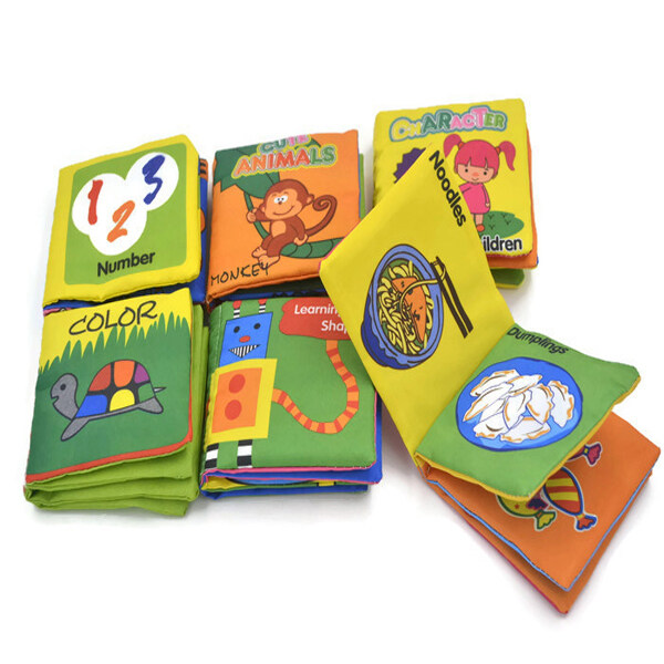 Fabric Baby Teaching Books 6 Pcs
