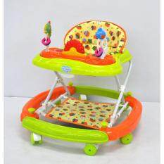 Fairworld Baby Walker With Stopper (orange/green)