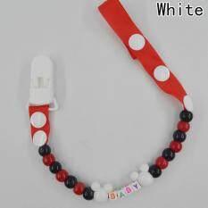 Fancyqube Cute Baby Dummy Pacifier Clip Chain White By Fancyqube Fashion.
