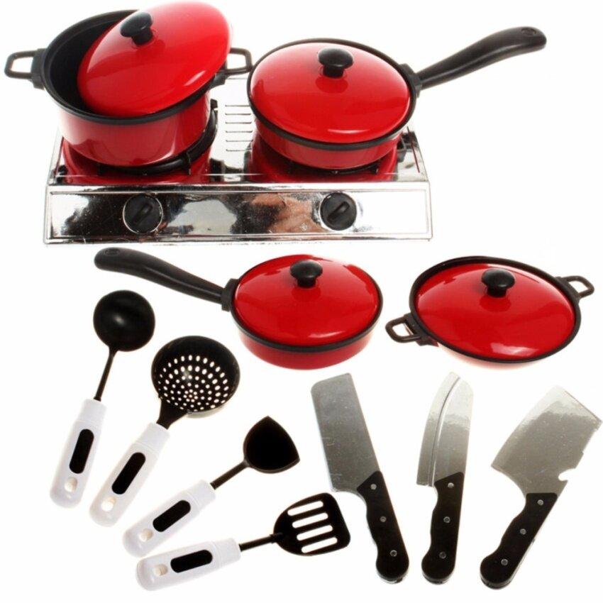 Fancytoy 13 Set Cook Play Toy Mini Kitchen Cookware Pot Pan Kids Pretend Utensils