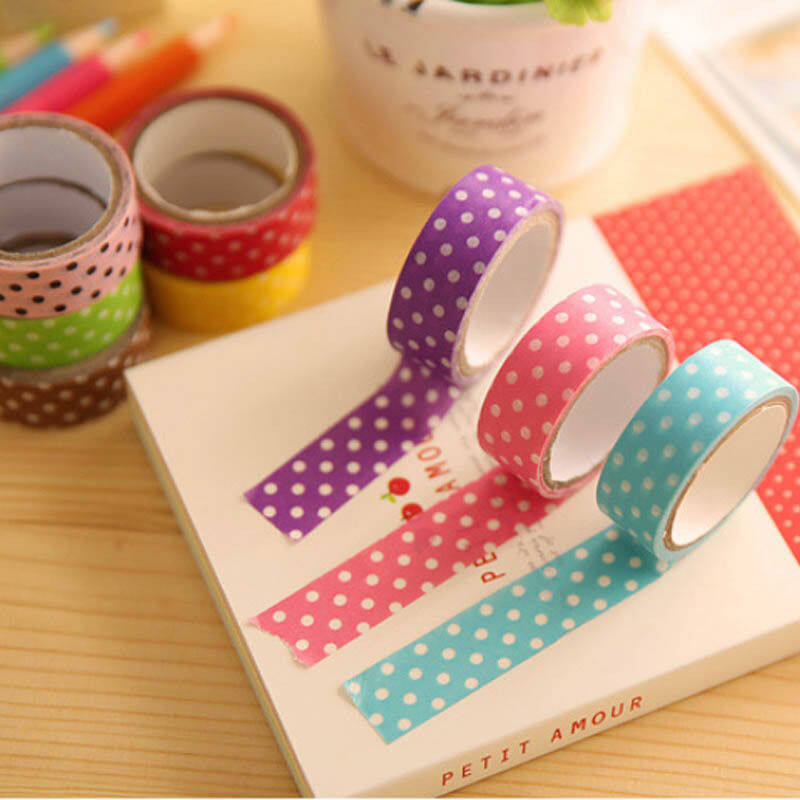 Hình ảnh Fang Fang 5pcs/Set Mini Handcraft Gift DIY Spot Adhesive Tapes Paper Stickers - intl