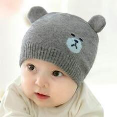 Fang Fang Bayi Musim Dingin Hangat Anak Laki-laki Perempuan Rajutan Topi  dengan Dua Telinga 3d04e968c7