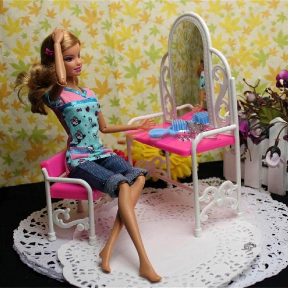 Fantasy Dressing Meja & Kursi Aksesori Set untuk Boneka Kamar Tidur Furniture Kualitas Terbaik-Internasional