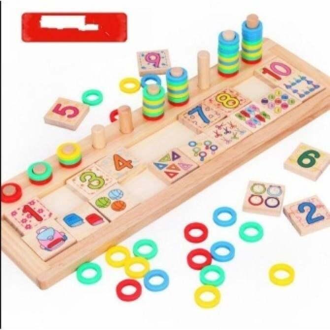Geometri Montessori Playgroup Bayi Permainan Bayi Mainan Anak Anak. FC Kayu Balok .