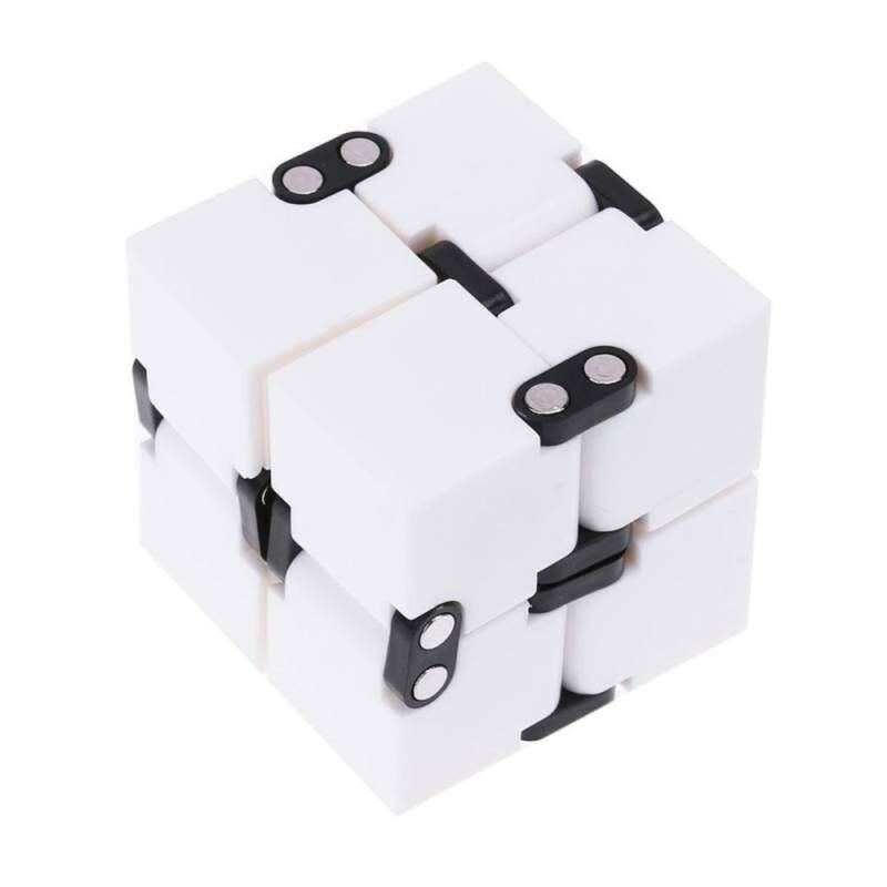 Kmdshxns Gelisah Kubus Infinity Anti Stres Jari Ajaib Pintu Tangan Permainan Mainan Spinner Putih