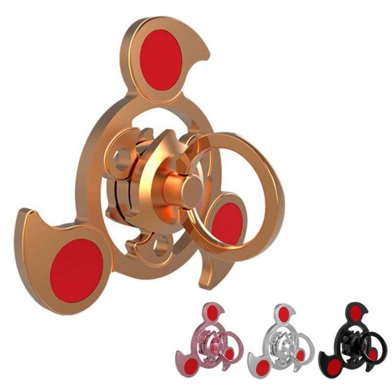 Kmdshxns Gyro Jari Melepas Stres Meringankan Kecemasan Profesional Gyro Dekompresi Gelisah Mainan Spinner EDC Ujung Jari