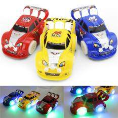 Flashing Music LED Light Racing Car Electric Automatic Toy Boy Kid Birthday Gift Color Random