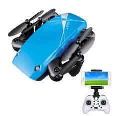 Folding Remote Control Four-axis Aircraft Mini Remote Aircraft Image Echo Drone (Blue)