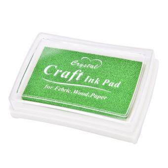 การส่งเสริม Free Shipping Child Craft Oil Based Diy Ink Pad Rubber Stamps Fabric Wood Paper Scrapbooking Inkpad Finger Paint Apple Green hot deal - มีเพียง ...