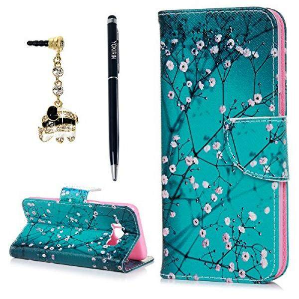Galaxy S8 Case, YOKIRIN Classic Cherry Blossom Magnetic Style PU Leather Case Wallet Flip Stand