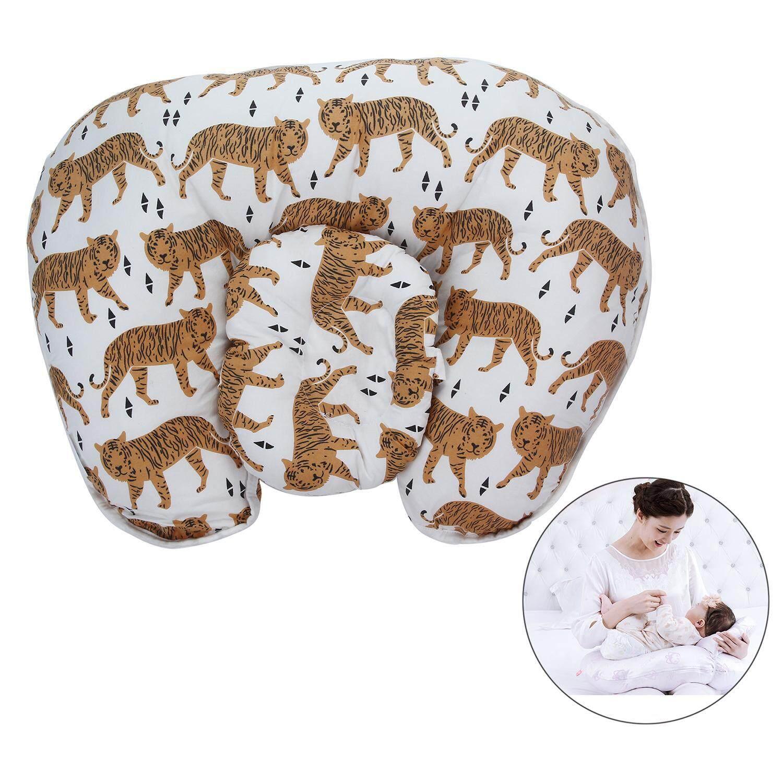 Gasfun Bayi Nursery Bantal untuk Bersalin Melindungi Pinggang/Mendukung Berbaring/Breastfeeding, Harimau Gaya-Internasional