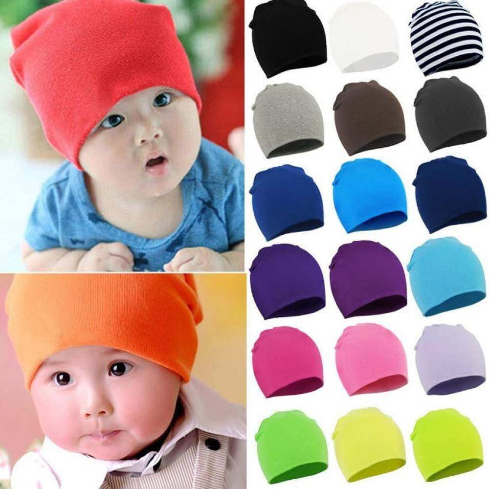 3a50b5a12 GDS New Autumn Winter Warm Cotton Baby Hat Girl Boy Toddler Infant,  Kidscaps Brand Candy Color Lovely Baby Beanies Accessories (Orange)