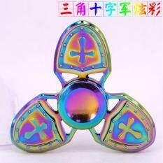GETEK Rnging Antique Alloy Fingertip Gyro The Crusader Hand Spinner EDC Toy Finger Spinner Gyro Toy
