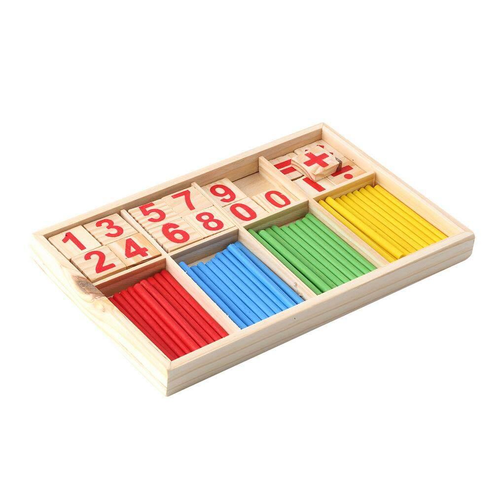 Hadiah Manipulatif Matematika Menghitung Kayu Stik Mainan Pendidikan Prasekolah Anak-anak Acak-Internasional