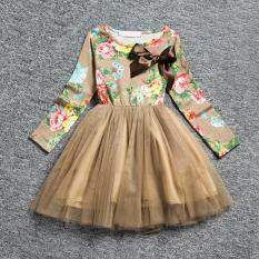 1474357680a4 Girls princess dress long sleeve spring summer girls dresses with flowers  casual toddler girl party dress