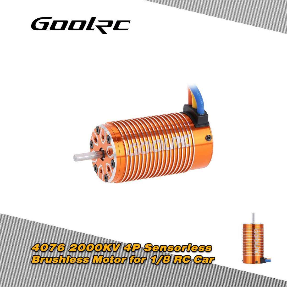 Goolrc 4076 2000kv 4p Sensorless Brushless Motor For 1/8 Rc Monster Truck By Kukuobopu.