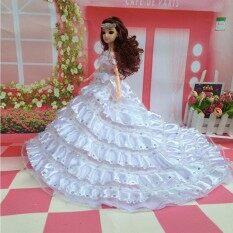 Cantik Multi-Lapisan Berpayet Pengantin Gaun Pernikahan Baju Pesta Gaun Putri untuk 12