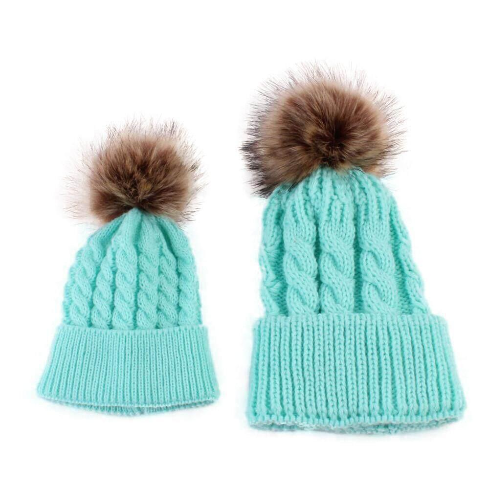 Gouldshop MoM dan Bayi Knitting Jauhkan Hangat Topi-Internasional