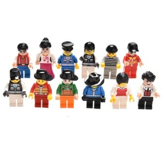 Grab Bag Minifigures Toys Figures Men People Blocks Toys Set of 12
