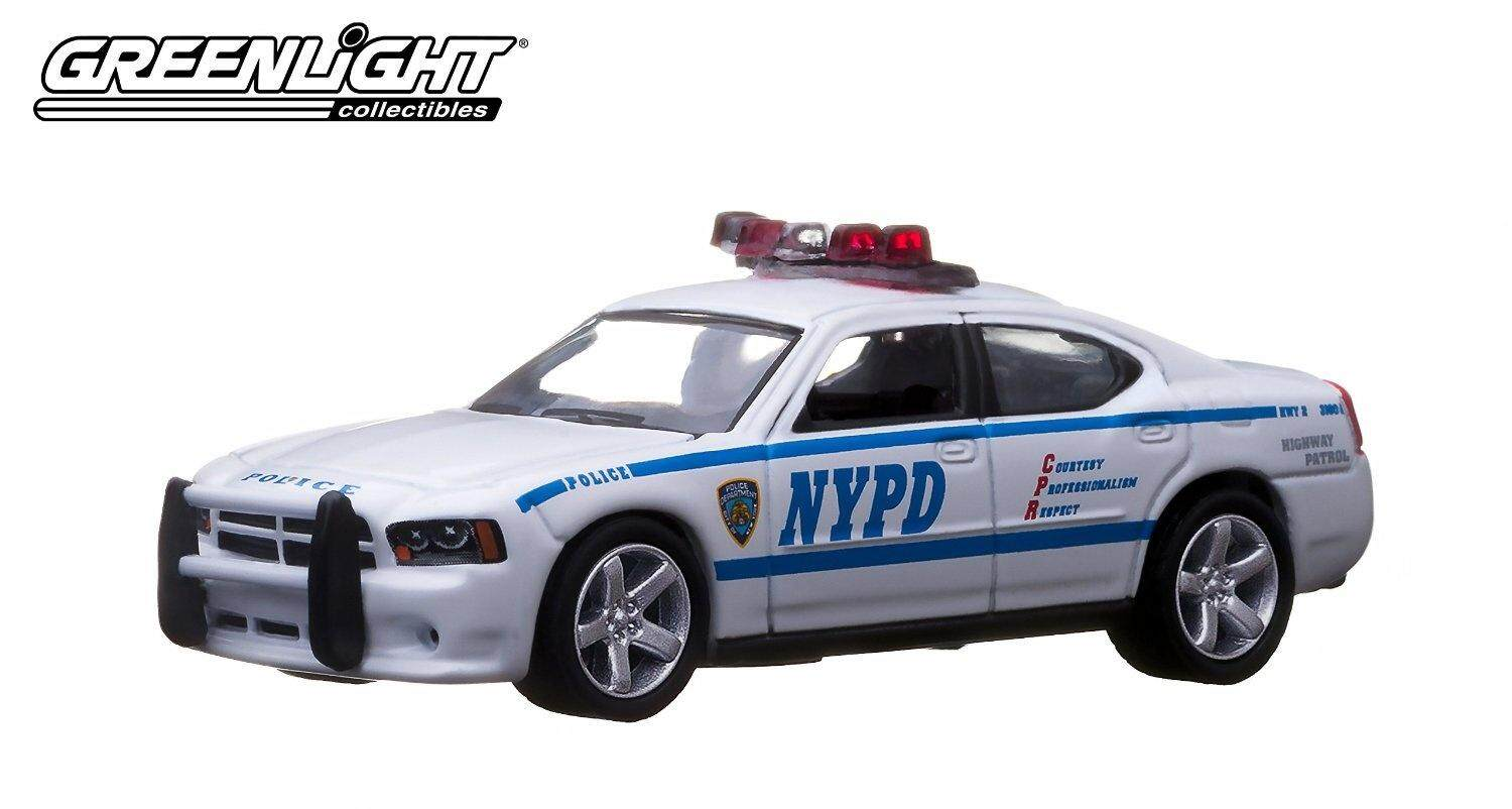 Greenlight Hot Pursuit Series 13 - New York Police Department NYPD 2009 Dodge Charger - intl