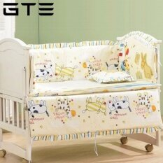 Gte 5-In-1 Newborn Baby Bed Bumper Set (100cm X 60cm) - 4 Colors Available - Yellow - Fulfilled By Gte Shop By Gte Shop.