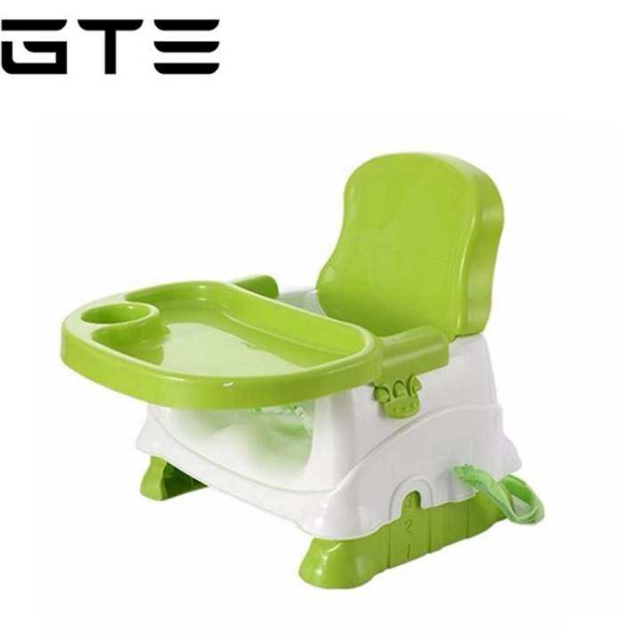 GTE Baby Booster Seat / Portable Baby Dining Chair and Table - Light Green - Fulfilled by GTE SHOP